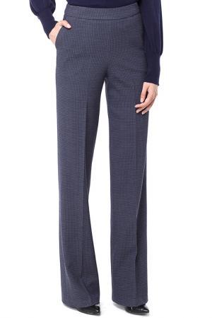 Расклешенные брюки с застежкой на молнию VILATTE. Цвет: синий, ягодный