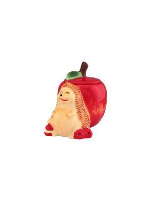 Горшочек для меда Ежик с яблоком Elan Gallery. Цвет: красный, коричневый