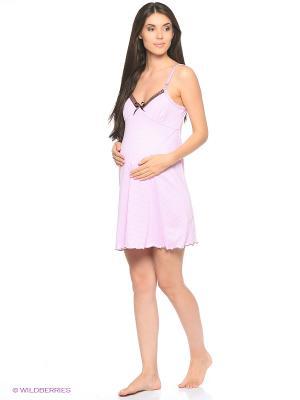Ночная сорочка для беременных и кормящих Hunny Mammy. Цвет: розовый, коричневый