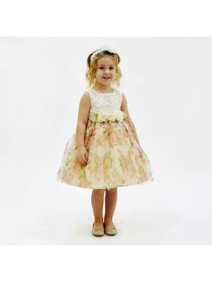 Комплект (Платье+повязка+брошь для девочки lindissima) Lindissima