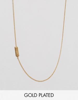 Gorjana Асимметричное ожерелье с подвеской Овен. Цвет: золотой
