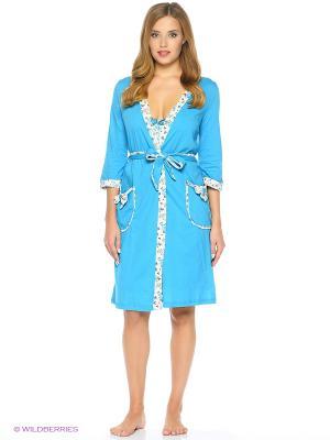 Комплект одежды-халат, сорочка NAGOTEX. Цвет: голубой