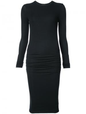 Gathered stretch dress Atm Anthony Thomas Melillo. Цвет: чёрный