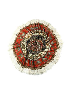 Покрывало круглое диаметр 220 см ETHNIC CHIC. Цвет: красный