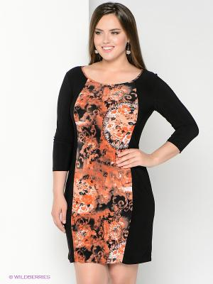 Платье Klimini. Цвет: черный, терракотовый