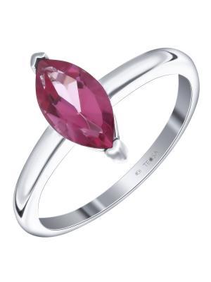 Кольцо Teosa. Цвет: розовый