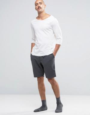 Jack Wills Темно-серые трикотажные шорты для дома. Цвет: серый