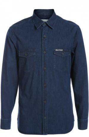 Джинсовая рубашка Burberry. Цвет: темно-синий