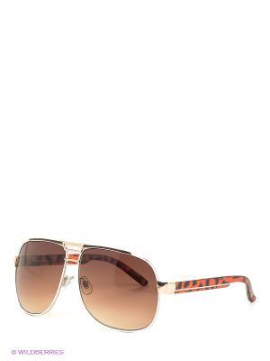 Солнцезащитные очки Oodji. Цвет: темно-коричневый