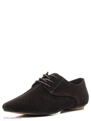 Туфли Quattrocomforto. Цвет: темно-коричневый
