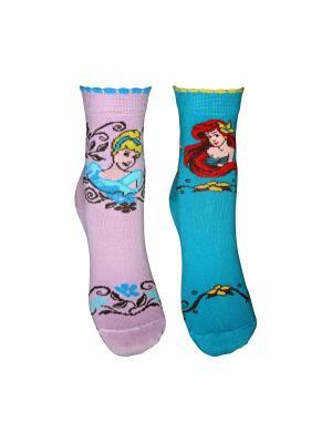 Носки 2 пары Master Socks. Цвет: бирюзовый, лиловый