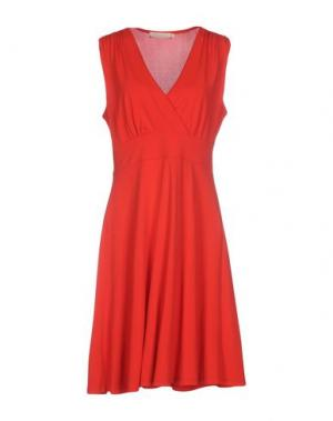 Короткое платье LA FEE MARABOUTEE. Цвет: красный