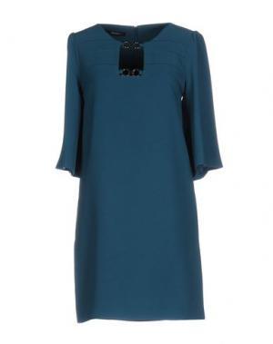 Короткое платье ANNARITA N.. Цвет: цвет морской волны