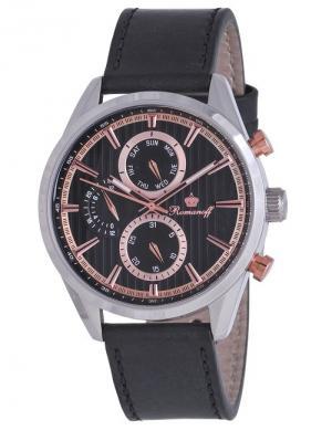 Часы наручные Romanoff. Цвет: черный, золотистый, серебристый