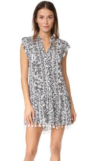 Мини-платье Heni Poupette St Barth. Цвет: черные пуговицы
