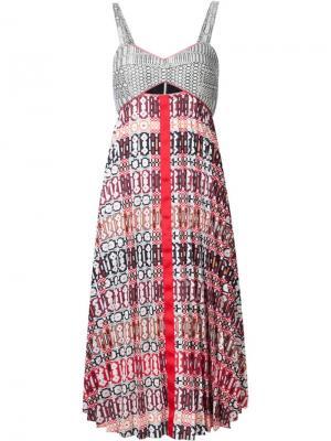 Платье Georgette Madeline Misha Nonoo. Цвет: многоцветный