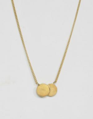 Made Ожерелье с двойной круглой подвеской. Цвет: золотой