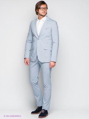 Брюки Donatto. Цвет: серо-голубой