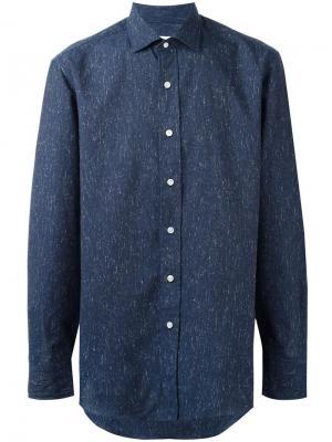 Рубашка с мелким рисунком Salvatore Piccolo. Цвет: синий