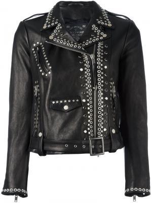 Studded biker jacket Htc Hollywood Trading Company. Цвет: чёрный