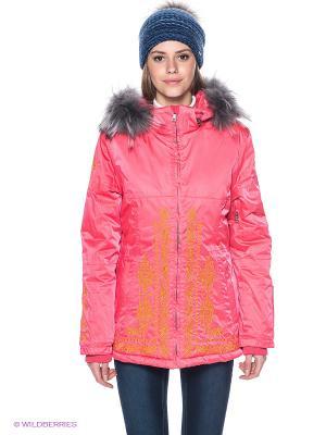 Куртка Baon. Цвет: розовый, желтый