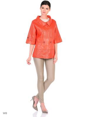 Перфорированная кожаная куртка MONDIAL. Цвет: красный