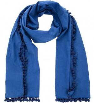 Синий хлопковый шарф Kocca. Цвет: синий