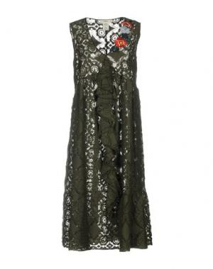 Платье длиной 3/4 SUOLI. Цвет: зеленый-милитари