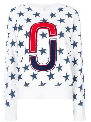 Толстовка с принтом звезд Marc Jacobs. Цвет: белый