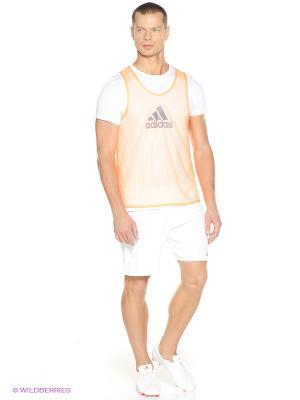 Майка TRG BIB 14 Adidas. Цвет: оранжевый