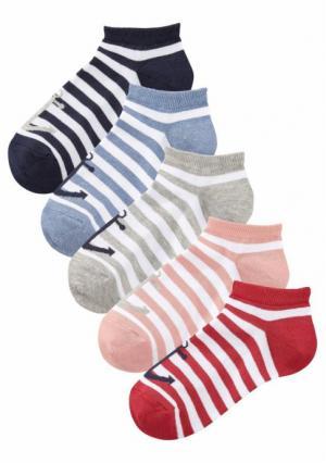 Короткие носки, 5 пар Arizona. Цвет: 5х разноцветный