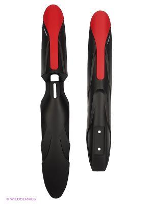 Комплект крыльев для велосипедов 24-28 YC-118F/R Meratti. Цвет: черный, красный