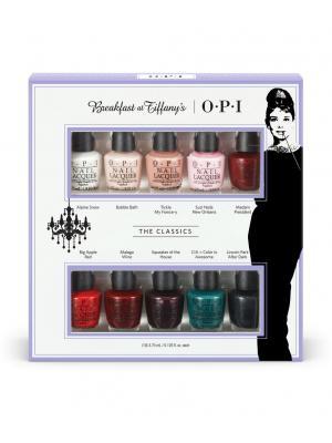 Набор мини лаков для ногтей Breakfast at Tiffanys, 10*3,75 мл OPI. Цвет: белый