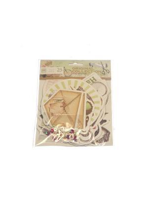Набор Декор для открытки Азбука Тойс. Цвет: коричневый