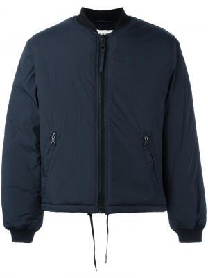 Дутая куртка-бомбер Our Legacy. Цвет: синий