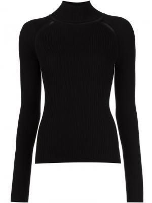 Трикотажная блузка Beatrice Misha Nonoo. Цвет: чёрный