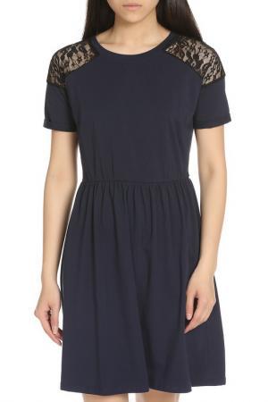 Элегантное повседневное платье YUMI. Цвет: navy