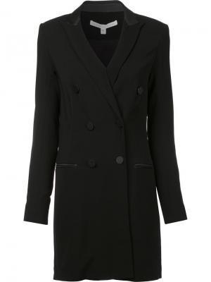 Приталенное двубортное пальто Veronica Beard. Цвет: чёрный