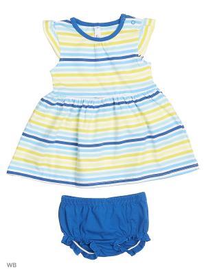 Костюм PlayToday. Цвет: синий, голубой, желтый, белый