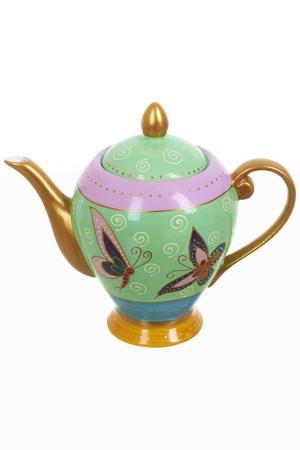 Чайник заварочный, 900 мл Best Home Porcelain. Цвет: золотой, зеленый, розовый