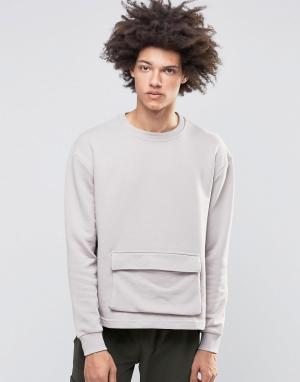 Systvm Свитер с карманом Keez. Цвет: серый