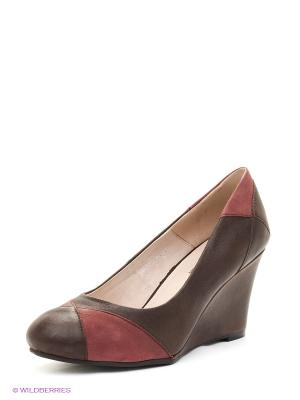 Туфли BELWEST. Цвет: коричневый, бордовый