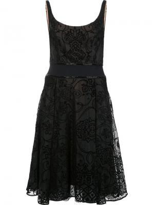 Расклешенное платье Marchesa Notte. Цвет: чёрный