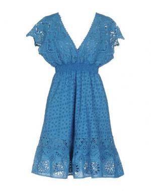 Короткое платье TEMPTATION. Цвет: лазурный