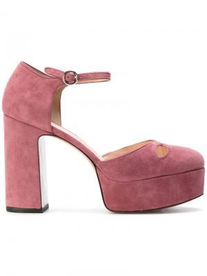 Босоножки на платформе Marc Jacobs. Цвет: розовый и фиолетовый
