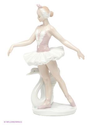 Статуэтка Балерина Pavone. Цвет: белый, бледно-розовый