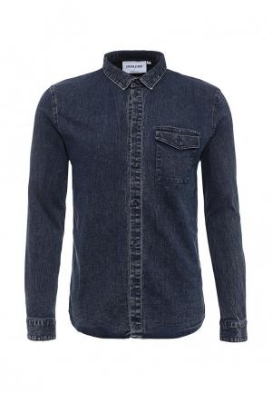 Рубашка джинсовая Anerkjendt. Цвет: синий