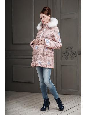 Куртка DIDILIYA. Цвет: светло-коралловый