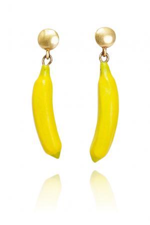 Серьги 135352 Nach Jewellery. Цвет: желтый