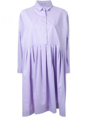 Плиссированное платье-рубашка Antonio Marras. Цвет: розовый и фиолетовый